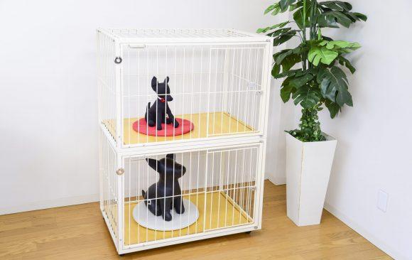 小型犬の2段ケージ