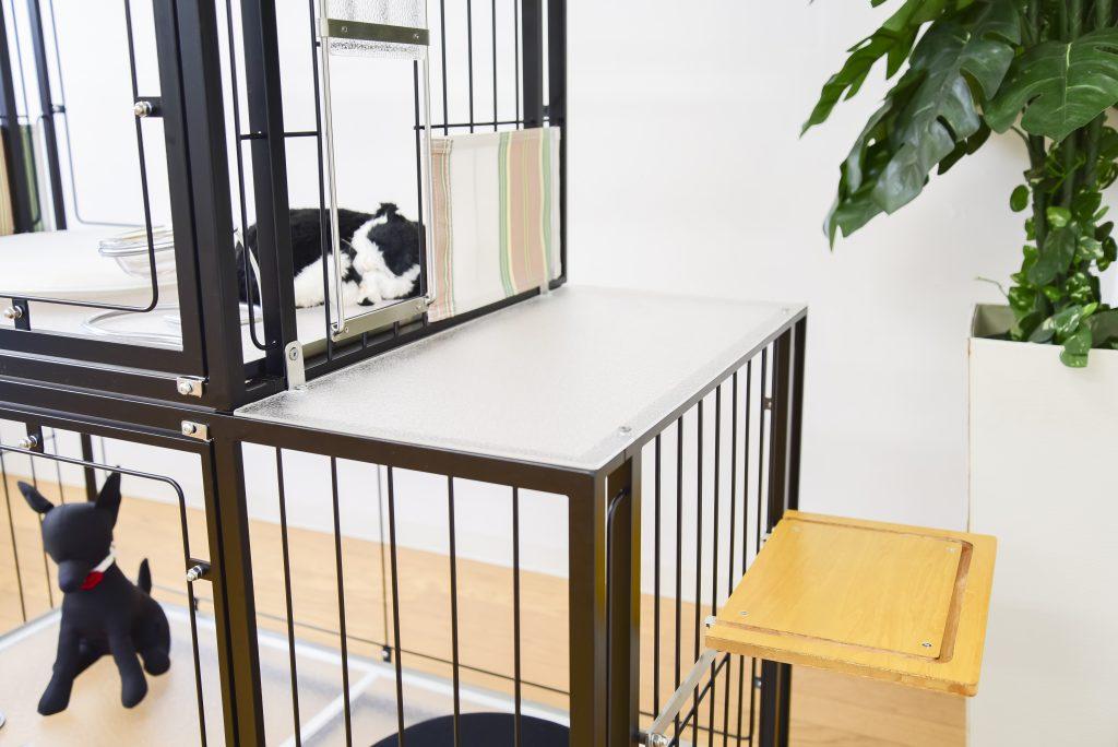 犬猫2階建てケージ用キャットステップ