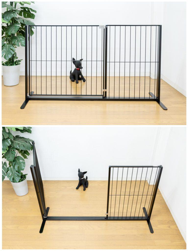 犬のドア付きゲート幅広