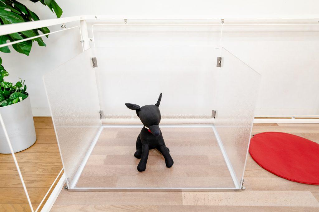 小型犬のトイレスペース壁付き