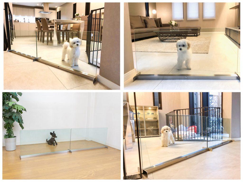 小型犬のおしゃれなクリアゲート置型