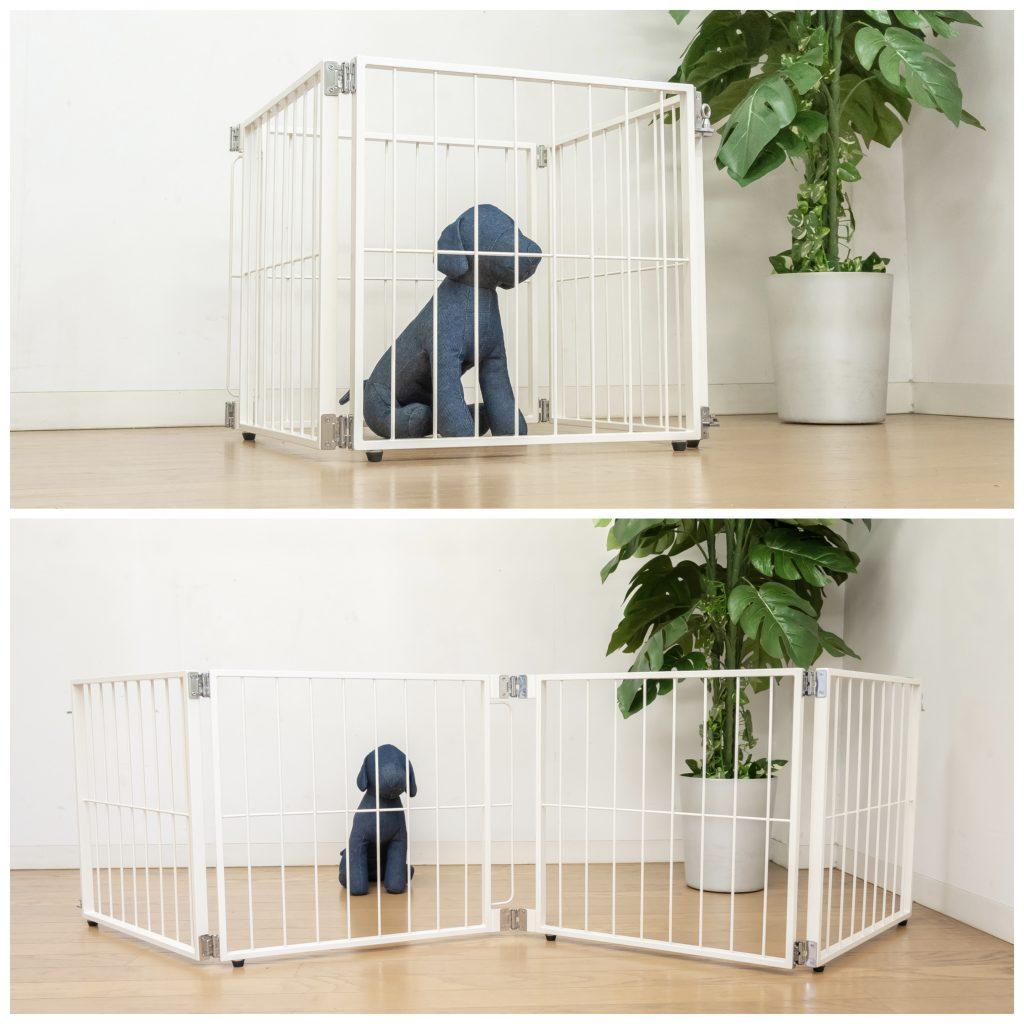小型犬の折り畳めるゲートフェンス
