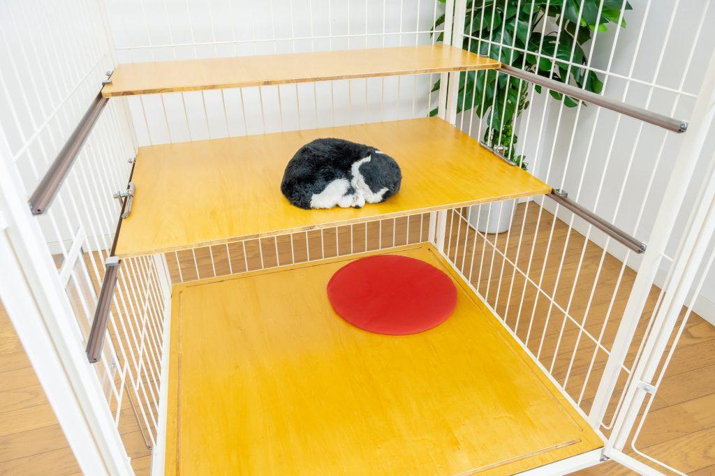 猫のキャットケージ2段