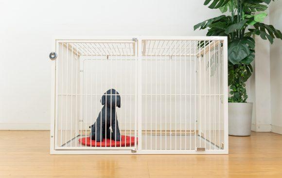 子犬用のオシャレケージ白