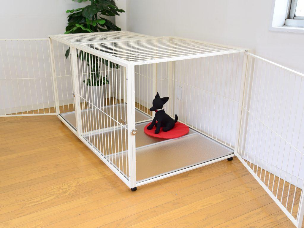犬用大型ゲージ扉2ヶ所